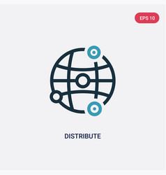 Two color distribute icon from networking concept vector