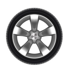 tyre car isolated with star disk tire or wheel vector image