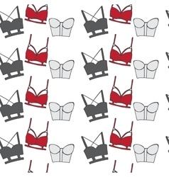 Vintage lingerie seamless pattern vector