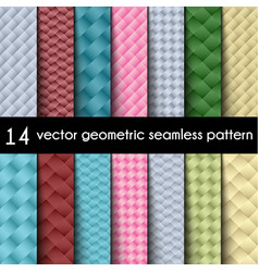 wallpaper set geometric seamless background vector image