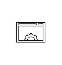 web configuration icon vector image