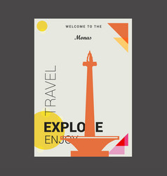 Welcome to the monas jakarta indonesia explore vector