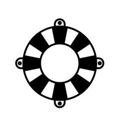 Black silhouette of flotation hoop vector