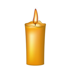 burning wax candle vector image vector image