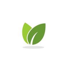 doble leaf logol vector image vector image