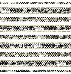Gold and Black seamless pattern vector image vector image