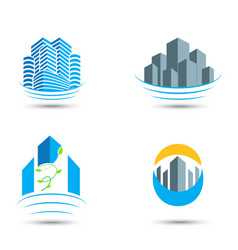 real estate symbol and icons vector image vector image