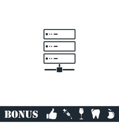 Server icon flat vector image