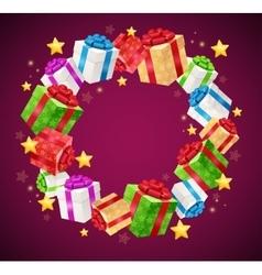 Birthday gift box garland background vector