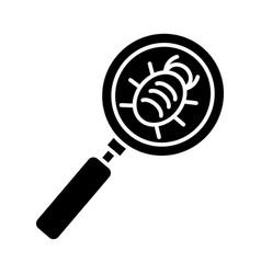 bug searching icon black vector image