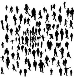 everyday people vector image vector image