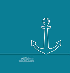 Abstract background with an anchor vector image vector image