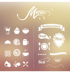 Design Elements menu vector image vector image