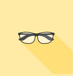 eyeglasses nerd and geek icon vector image vector image