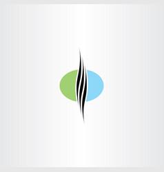 healthy natural hair logo vector image vector image
