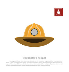 Helmet of a firefighter on a white background vector