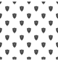Medieval shield pattern simple style vector image vector image