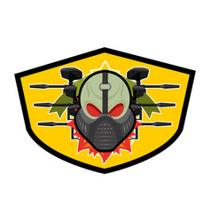 paintball logo military emblem army sign skull in vector image vector image