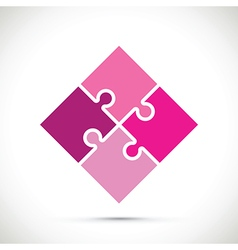 pink jigsaw pieces vector image