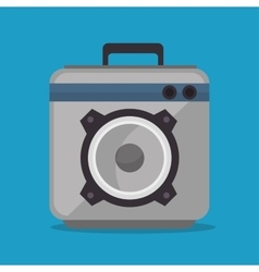 audio speaker power music icon vector image
