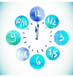 Clock Watercolor elements vector image vector image