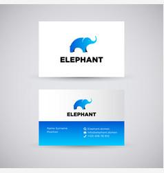 elephant concept logo vector image