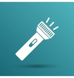 flashlight icon torch pocket light shine vector image