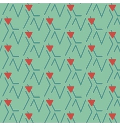 Print lines triangle vector image