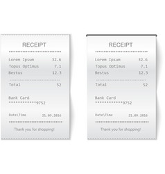 sales printed receipt Bill atm check vector image