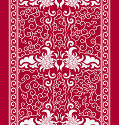 seamless vertical pattern in a chinese style vector image vector image