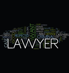 the credentials of any good san diego criminal vector image vector image