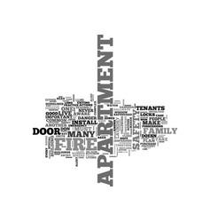 a safe apartment text word cloud concept vector image