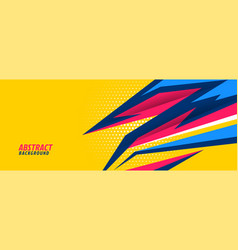 Abstract sports background with sharp geometric vector