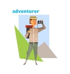 Adventurer Abstract Figure vector