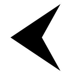 Arrowhead Left Flat Icon vector