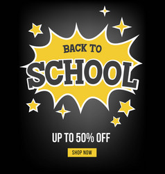 back to school sale poster template vector image