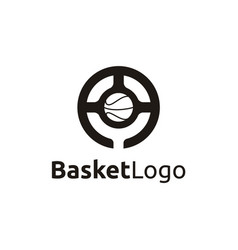 Basketball with letter o logo design vector