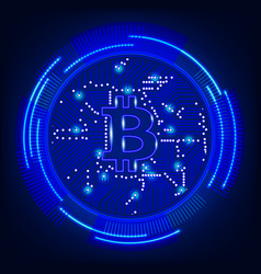 bitcoin digital currency technology concept vector image