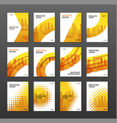 brochure cover design layout set vector image