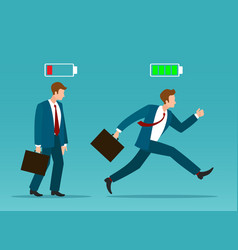 business man recharge vector image