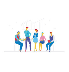 Business meeting - flat design style colorful vector