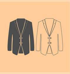 Business suit dark grey set icon vector