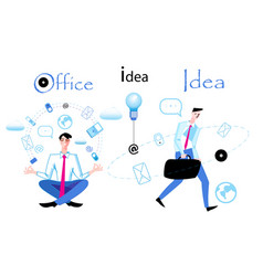 business with managers in work on a white vector image