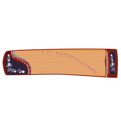 chinese guzheng vector image