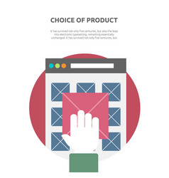 Choice of product on website flat vector