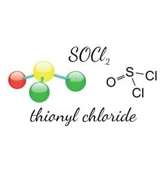 Cl2SO thionyl chloride molecule vector