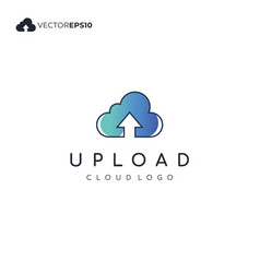 cloud computing with upload or download sign for vector image