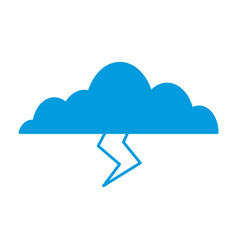 clouds sky weather lightning seasonal icon vector image