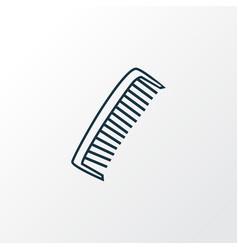 comb icon line symbol premium quality isolated vector image
