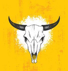 cow skull wild west rough vector image